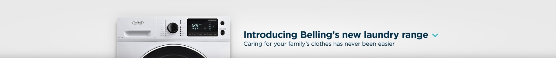 Introducing Belling's New Laundry Range.