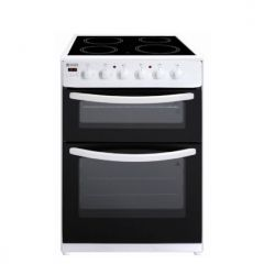 Haden HE60DOPW Electric Cooker Double Oven Ceramic In White
