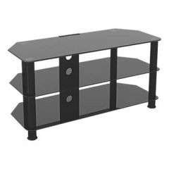 Hama SDC1000CMBB TV Cabinet 1000Mm In Glass Black For Tv`S Up To 50`