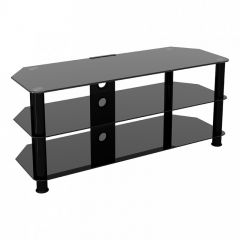 Hama SDC1140CMBB TV Cabinet Black Glass For Upto 55`