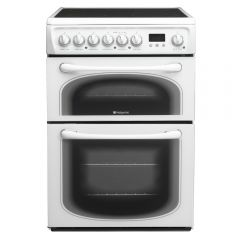 Hotpoint 60HEPS 60cm Double Oven Ceramic White
