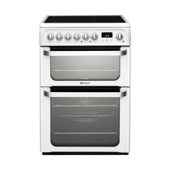 Hotpoint HUE61PS 60cm Double Oven Ceramic White
