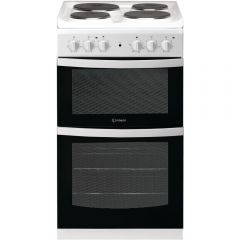 Indesit ID5E92KMW 50Cm Solid Plate Twin Cavity Cooker