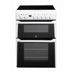 Indesit ID60C2WS Electric Cooker Ceramic Double Oven In White