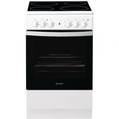 Indesit IS5V4KHW Ceramic Electric Cooker With Single Oven
