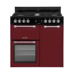 Leisure CK90F232R 90cm dual fuel Leisure Cookmaster, red
