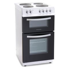 Montpellier MTE50FW Electric Cooker Twin Cavity Ceramic 50Cm