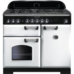 Rangemaster CDL100DFFWH/C 113850 CLASSIC DL 100 DF WHITE CHROME