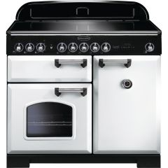 Rangemaster CDL100EIWH/C 114030 CLASSIC DL 100 IND. WHITE CHROME