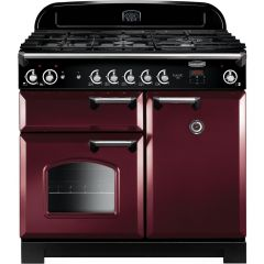 Rangemaster CLA100NGFCY/C 117650 CLASSIC 100 GAS CRANBERRY CHROME