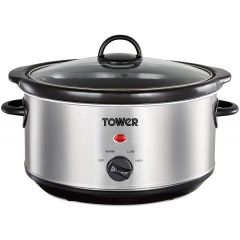 Tower T16039 Stainless Steel Slow Cooker 3.5L
