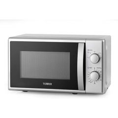 Tower T24034SIL 20 Litre Manual Microwave In Silver