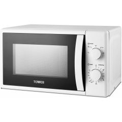 Tower T24034WHT 20 Litre Manual Microwave In White