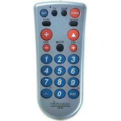 Vivanco 34873 2 In 1 Big Button Remote Control