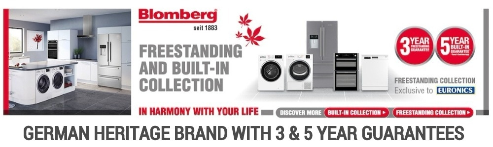 Blomberg is a German heritage brand with a freestanding and built-in collection with three and five year guarantee.